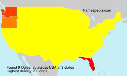 Surname Ogleznev in USA