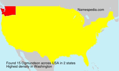 Surname Ogmundson in USA