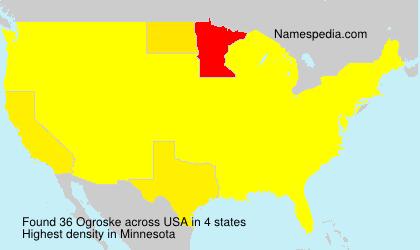 Surname Ogroske in USA
