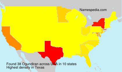 Familiennamen Ogundiran - USA