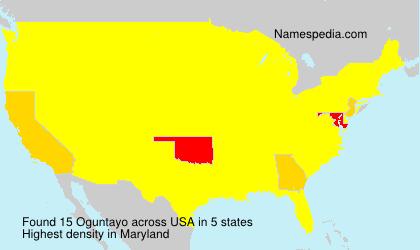 Surname Oguntayo in USA