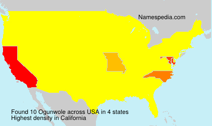 Surname Ogunwole in USA