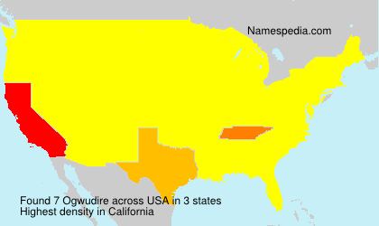 Surname Ogwudire in USA