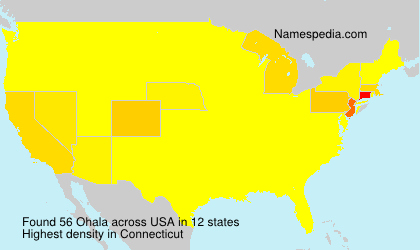 Surname Ohala in USA