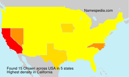 Surname Ohiaeri in USA