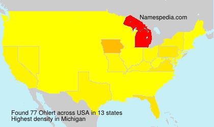 Surname Ohlert in USA