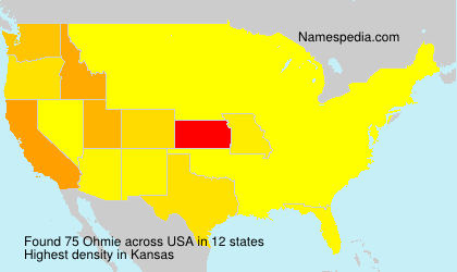 Surname Ohmie in USA
