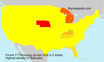 Surname Ohnesorg in USA