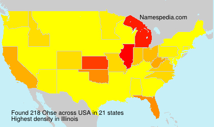 Surname Ohse in USA