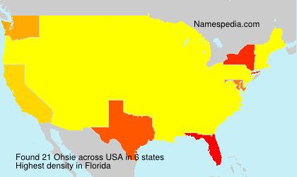 Familiennamen Ohsie - USA