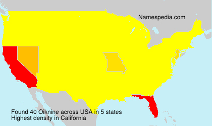 Surname Oiknine in USA