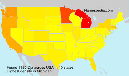 Surname Oja in USA