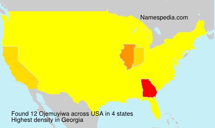 Surname Ojemuyiwa in USA