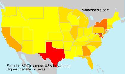 Familiennamen Ojo - USA