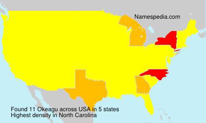 Familiennamen Okeagu - USA