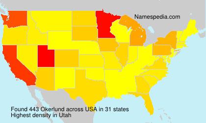 Surname Okerlund in USA