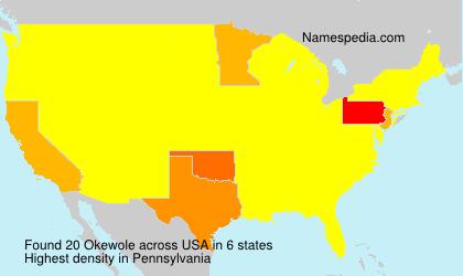 Familiennamen Okewole - USA