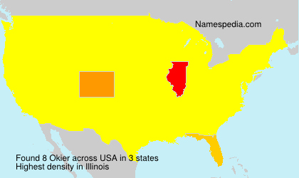 Surname Okier in USA
