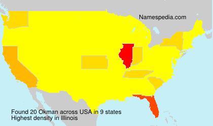 Familiennamen Okman - USA