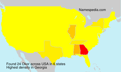 Surname Okor in USA