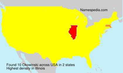 Surname Okowinski in USA