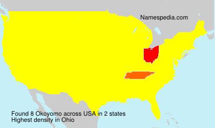 Familiennamen Okoyomo - USA