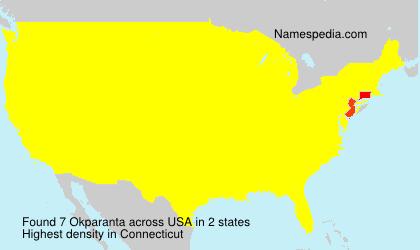 Surname Okparanta in USA