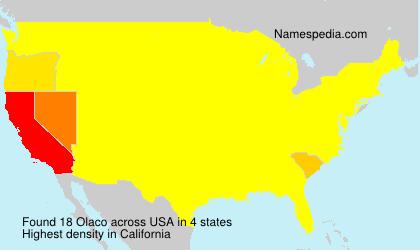 Surname Olaco in USA