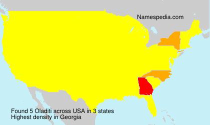 Surname Oladiti in USA