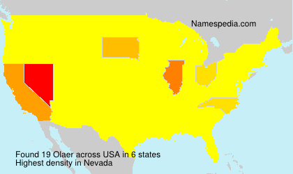 Surname Olaer in USA
