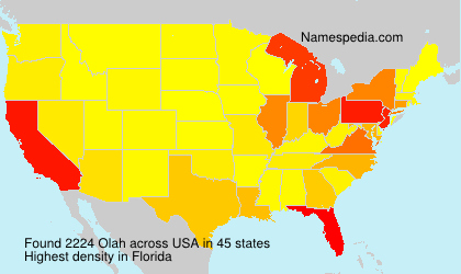 Surname Olah in USA