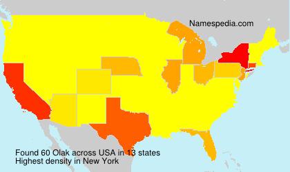 Surname Olak in USA