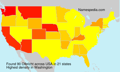 Surname Olbricht in USA