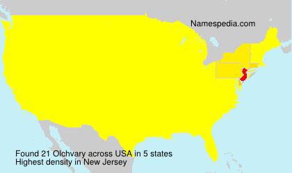 Familiennamen Olchvary - USA
