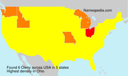 Surname Oleny in USA