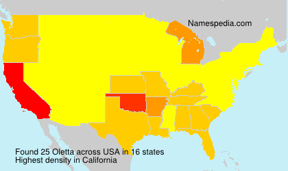 Surname Oletta in USA