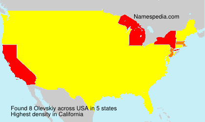 Surname Olevskiy in USA