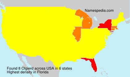 Familiennamen Olgierd - USA