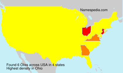 Surname Oliss in USA
