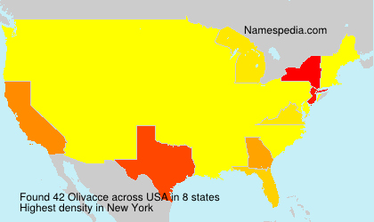 Surname Olivacce in USA