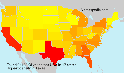 Surname Oliver in USA