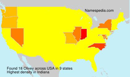 Familiennamen Olivey - USA