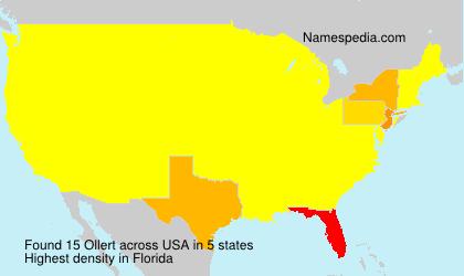 Familiennamen Ollert - USA