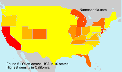 Surname Ollett in USA