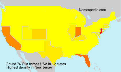 Surname Ollo in USA