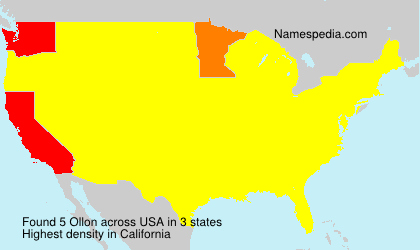 Surname Ollon in USA