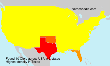 Surname Ololo in USA