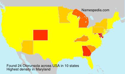 Surname Olorunsola in USA