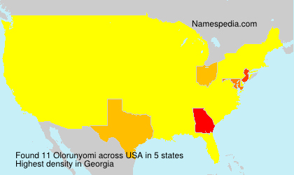Familiennamen Olorunyomi - USA