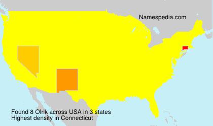 Surname Olrik in USA